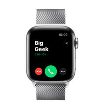 Apple Watch Series 6 GPS + Cellular, 40mm, корпус из стали, серебристый миланский сетчатый браслет