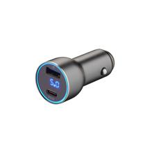 Автомобильное зарядное устройство с дисплеем Deppa мощностью 36 Вт (USB-C PD, USB-A QC 3.0)