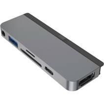 Многопортовый адаптер HYPER HyperDrive для iPad Pro (2018 и новее) и iPad Air (4-го поколения, 2020) (USB-C PD 60 Вт, USB-A 3.0, SD UHS-I, microSD UHS-I, HDMI 4K 60 Гц, разъём 3,5 мм)