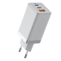 Многопортовый адаптер питания Baseus GaN2 Pro мощностью 65 Вт и дата-кабель с ремешком USB-C (2 USB-C, USB-A; GaN, поддержка PD 3.0 и QC 4+)