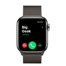 Apple Watch Series 6 GPS + Cellular, 40mm, корпус из стали цвета «графит», миланский сетчатый браслет цвета « графит»