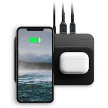 Беспроводное зарядное устройство Nomad Base Station Hub Edition (Qi 10 Вт, USB-C, USB-A; поддержка PD)