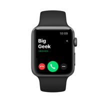 Apple Watch Series 3 GPS, 38mm, корпус из алюминия цвета «серый космос», спортивный ремешок чёрного цвета
