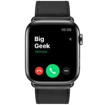 Apple Watch Series 5 GPS + Cellular, 44mm, корпус из стали цвета «черный космос», ремешок Hermès Single Tour из кожи Swift цвета Noir