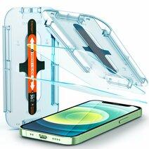 Защитное стекло с установочной формой Spigen GLAS.tR SLIM EZ FIT для iPhone 12 mini (2D, 9H; олеофобное покрытие; комплект — 2 шт.)