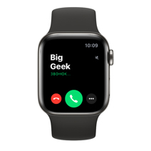 Apple Watch Series 6 GPS + Cellular, 40mm, корпус из стали цвета «графит», чёрный спортивный ремешок