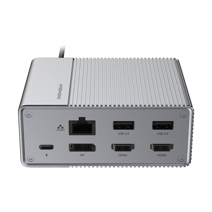 Многопортовый адаптер HYPER HyperDrive GEN2 (USB-C PD 100 Вт, 2 USB-A 2.0, 2 USB-A 3.0, SD UHS-II, microSD UHS-II, 2 HDMI 4K 60 Гц HDR, DisplayPort 4K 60 Гц, Gigabit Ethernet, разъём 3,5 мм)