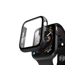 Чехол с защитным стеклом Deppa Glass Case для Apple Watch 44 мм