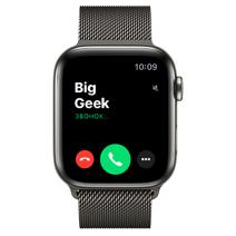 Apple Watch Series 6 GPS + Cellular, 44mm, корпус из стали цвета «графит», миланский сетчатый браслет цвета « графит»