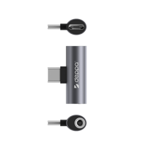 Адаптер Deppa USB-C/разъём 3,5 мм и USB-C