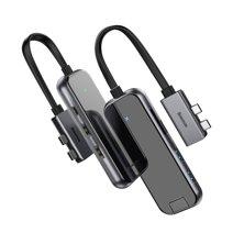 Многопортовый адаптер Baseus с двойным коннектором USB-C (USB-C PD 100 Вт, 2 USB-A 3.0, SD, microSD, 2 HDMI 4K 30 Гц, Gigabit Ethernet)