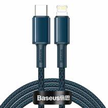 Дата-кабель c нейлоновой оплёткой и ремешком Baseus USB-C/Lightning (2 м, 20 Вт, 480 Мбит/с; поддержка PD)