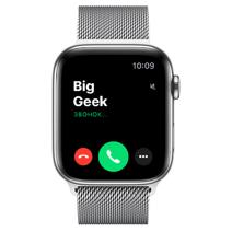 Apple Watch Series 6 GPS + Cellular, 44mm, корпус из стали, серебристый миланский сетчатый браслет