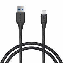 Дата-кабель с нейлоновой оплёткой Aukey CB-AC1 USB-C/USB (1,2 м, 5 Гбит/с)
