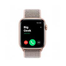 Apple Watch Series 4 GPS, 40mm, корпус из алюминия золотого цвета, спортивный браслет (Sport Loop) цвета «розовый песок»