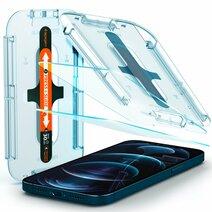 Защитное стекло с установочной формой Spigen GLAS.tR SLIM EZ FIT для iPhone 12 Pro Max (2D, 9H; олеофобное покрытие; комплект — 2 шт.)