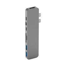 Многопортовый адаптер HYPER HyperDrive PRO (USB-C PD 100 Вт, USB-C PD 60 Вт, 2 USB-A 3.0, SD, microSD, HDMI 4K 30 Гц, MiniDP 4K 30 Гц)