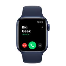 Apple Watch Series 6 GPS, 40mm, корпус из алюминия синего цвета, спортивный ремешок цвета «тёмный ультрамарин»