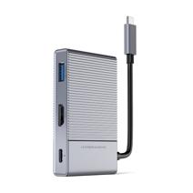 Многопортовый адаптер HYPER HyperDrive GEN2 с кабель-коннектором USB-C (USB-C PD 100 Вт, USB-A 3.0, SD UHS-II, microSD UHS-II, HDMI 4K 60 Гц HDR, разъём 3,5 мм)
