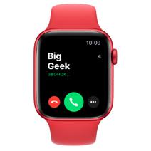 Apple Watch Series 6 GPS, 44mm, корпус из алюминия цвета (PRODUCT)RED спортивный ремешок цвета «(PRODUCT)RED»