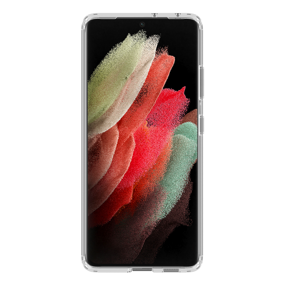 Защитный гибридный чехол Deppa Gel Pro для Samsung Galaxy S21 Ultra 5G Цвет: Прозрачный | Clear